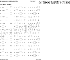 printable multiplication activity sheets on division by math crush