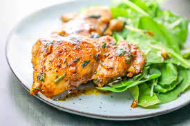 blackened chicken thighs with garlic butter sauce