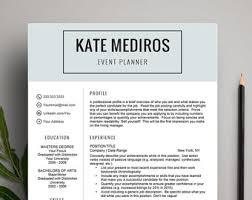 Resume Template Mac Resume Template Mac Etsy