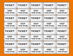 printable blank tickets template examples