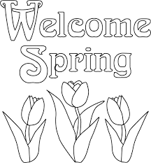 spring flowers coloring pages exprimartdesign