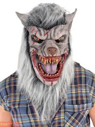werewolf fancy dress wolf mask gloves latex mens teen