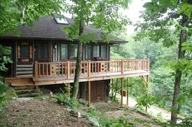 tiny house 600 sq ft the perch is a log cabin sitting on a little lake just outside the