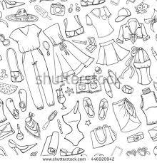 pattern fashion accessories stock illustration 249041614