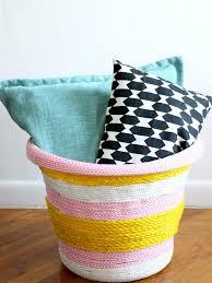 Make A Laundry Hamper by Diy Rope Basket Hgtv