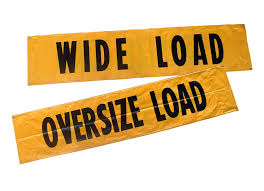 Oversize Load Flags One Pack Llc Wide Load Oversized Load Truck Banner 84