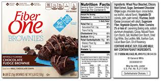 Cottage Cheese Brownies by Fiber One Product List