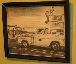Vintage Ford Truck Signs - mel u0027s diner vintage sign u0026 old pickup truck photo hanging u2026 flickr