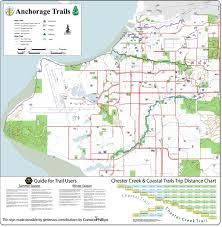 Uaa Map The Tony Knowles Coastal Trail Anchorage Coastal