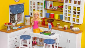 Dollhouse Kitchen Furniture Diy Miniature Dollhouse Kitchen Youtube