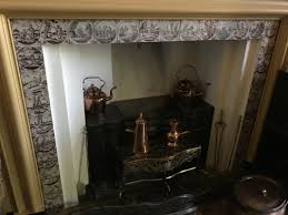 Fireplace In Middle Of Room Madeline Hagerman Delft Tiles At Winterthur
