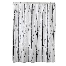 Black White Shower Curtain Shop Shower Curtains Liners At Lowes
