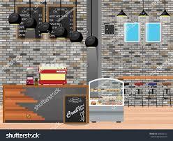 modern flat design coffee shop interior stock vector 584038312