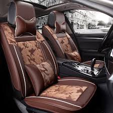 high end fashion camouflage 3d stereo car seat cushion four
