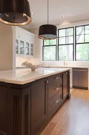 black and white circle kitchen backsplash tiles transitional