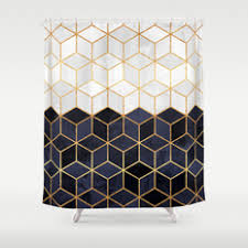 graphic design and pattern shower curtains society6