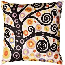 Contemporary Throw Pillows For Sofa by Klimt Ivory Throw Pillow Soulful Tree Of Life Silk Hand
