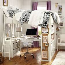 loft bed with desk and vanity on the hunt