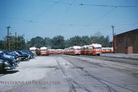 Broadway Barns St Louis Psco Trolley Line Westernrailimages