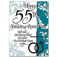 55th wedding anniversary wedding anniversary cards buy marriage anniversary greeting card