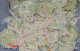 cuisiner le surimi salade fraîcheur concombre et surimi recette dukan pl par fanie37