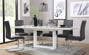 Extendable Dining Table And 4 Chairs Tokyo White High Gloss Extending Dining Table And 6 Chairs Set