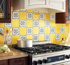 Backsplash For Yellow Kitchen Colorful Backsplash Yellow Kitchen Ideas Yellow Kitchen Walls