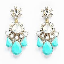 statement earrings twinkle statement earrings aqua blue chandelier earrings