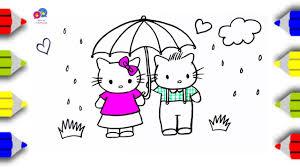 draw kitty dear daniel kitty coloring