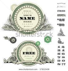 vector certificate money ornaments stock vector 45906817