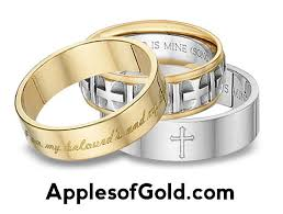 christian wedding bands bible verse wedding bands dual symbolism applesofgold