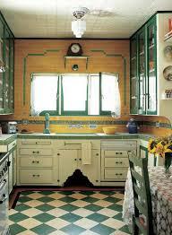 kitchen art design yellow vintage kitchen