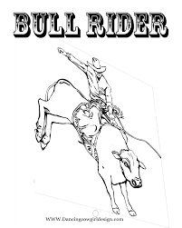bull riding coloring pages funycoloring