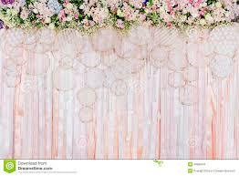 wedding backdrop background beautiful flowers background for wedding stock photo image