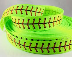 softball ribbon softball ribbon etsy