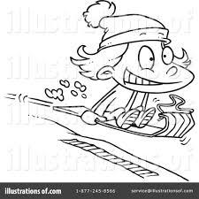 sledding clipart 1048116 illustration by toonaday