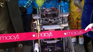 parade ribbon robots cut the ribbon at the 2013 macy s thanksgiving day