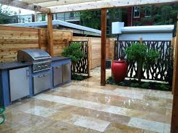 outdoor kitchen ideas solid cherry wood pergola roof many burner