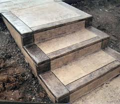 Cement Stairs Design Best And Popular Outdoor Stair Treads House Exterior And Interior