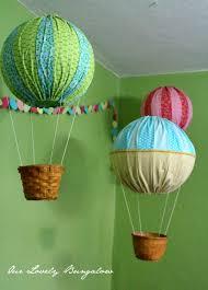 How To Make Paper Air Balloon Lantern - air balloon decorations