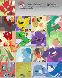 Favorite Pokemon Meme - pokemon type meme know your meme