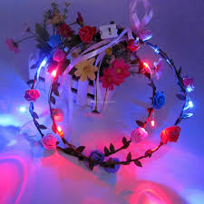 cheap garlands for weddings party wedding diy led flower garland rattan forehead hair garlands