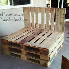Patio Pallet Furniture by How To Build An Outdoor Couch With Pallets Part 1