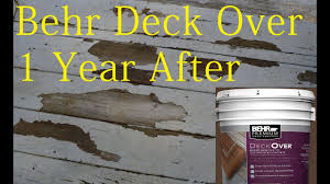 Behr Porch And Floor Paint On Concrete by Behr Deck Over Paint Review After 1 Year Youtube