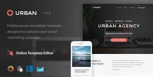 urban email template online editor by maileden themeforest