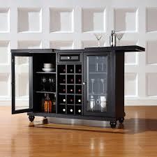 Black Bar Cabinet Crosley Cambridge Black Bar With Sliding Top Kf40002dbk The Home