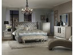 Aico Furniture Clearance Michael Amini Hollywood Swank King Upholstered Bed Darvin