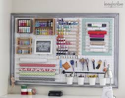 What Is Cricut Craft Room - craft room organizational pegboard craft room and desks