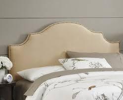 bedroom nice diy wood framed upholstered headboard with nailhead