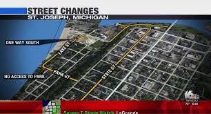 Michigan Traffic Map by St Joseph Street Changes Near The Beach